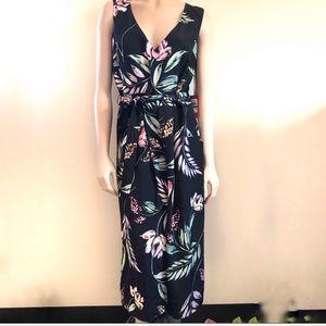 Vince Camuto Sz Large Sleeveless Maxi Floral Dress